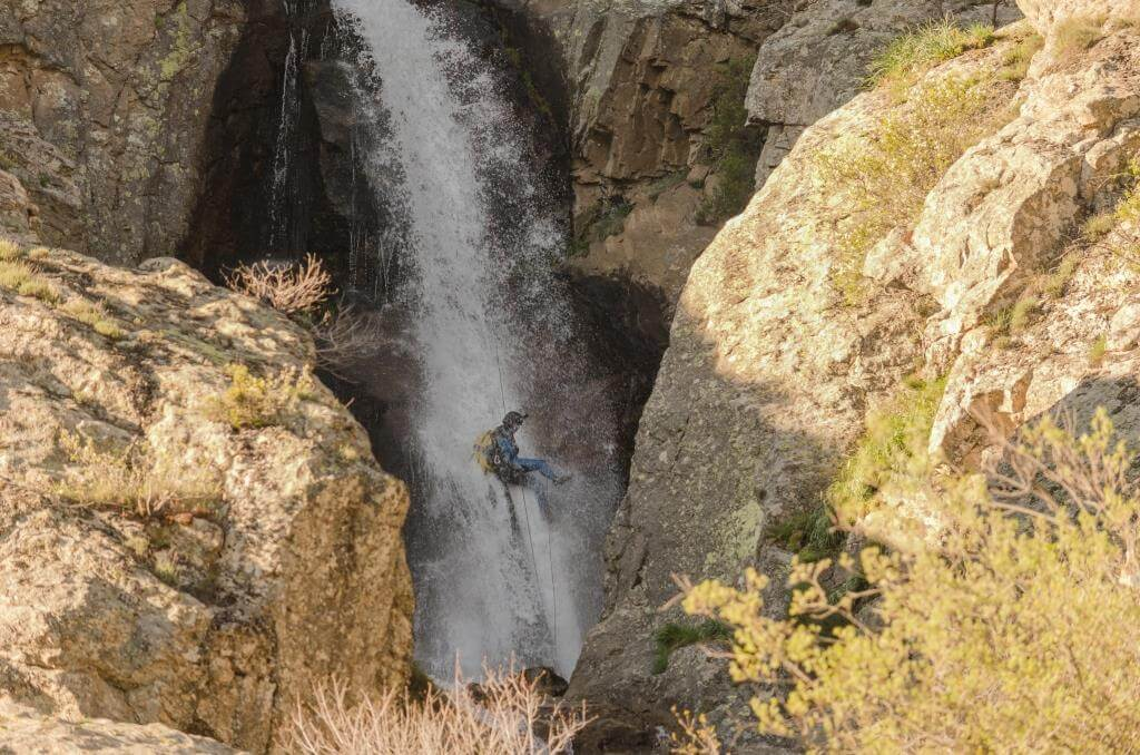 Barranquismo / canyoning Madrid Somosierra 3 rapel