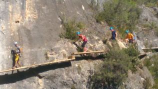 Via ferrata Priego: final