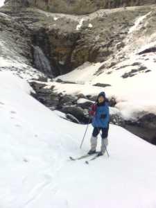 Esquiando en Ordesa
