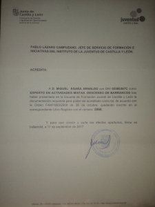 Titulo de experto en Barranquismo