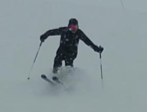 Aire y nieve es esquí
