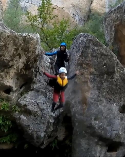 Salto en Barranco del ventano