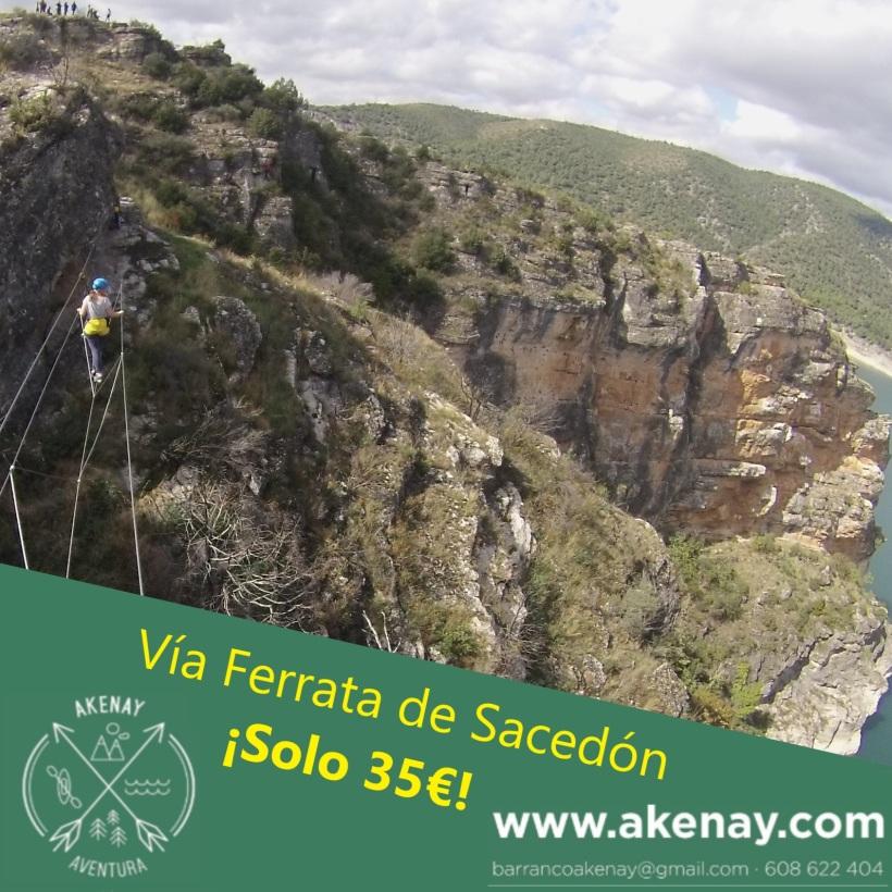 Vía ferrata de Sacedón en Guadalajara